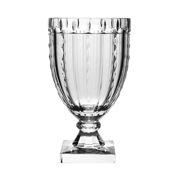 William Yeoward Crystal Vivien Square Footed Vase, 12'