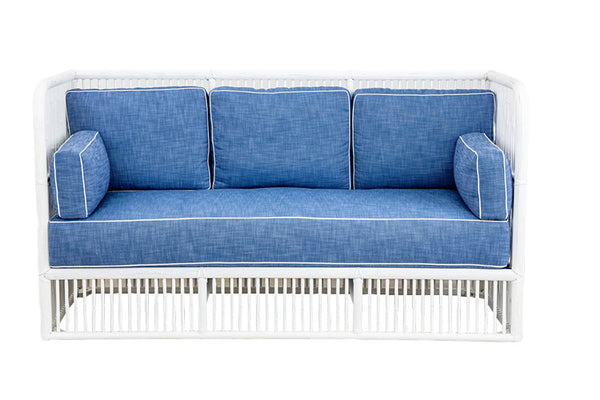 Vintage Rattan High Back Sofa