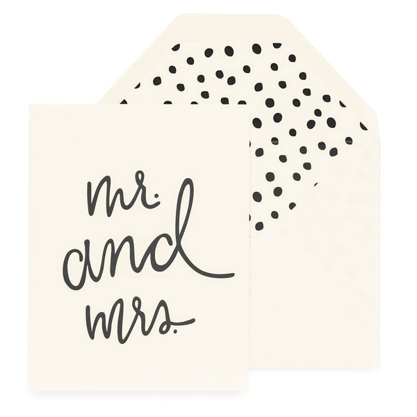 playful mr and mrs card