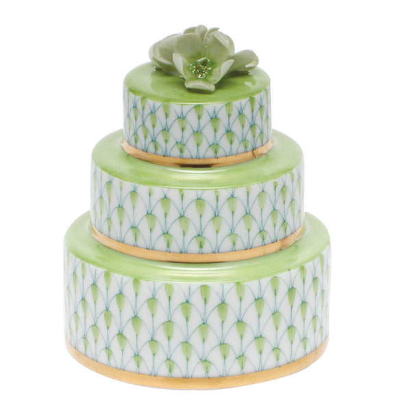 Herend Wedding Cake, Key Lime Green