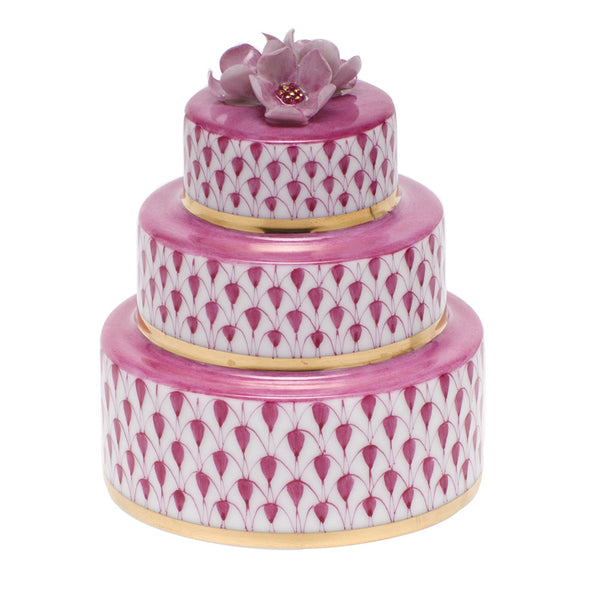 Herend Wedding Cake, Raspberry Pink
