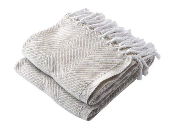 Brahms Mount Monhegan Throw White/Oyster