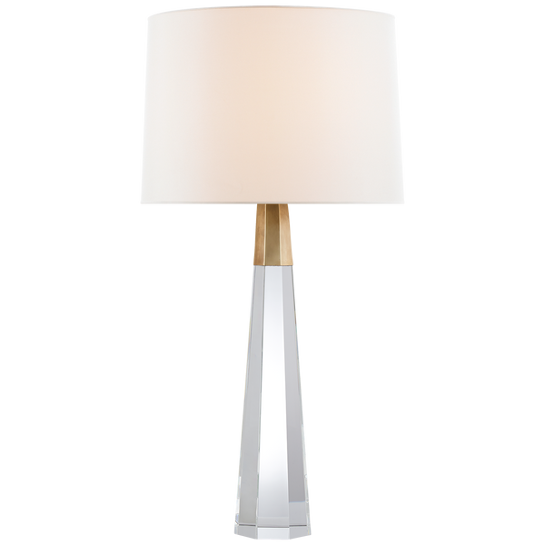 Olsen Table Lamp in Crystal and Brass