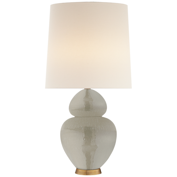 Michelena Table Lamp in Shellish Gray with Linen Shade