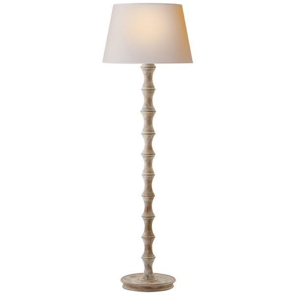 Bamboo Floor Lamp, Belgian White