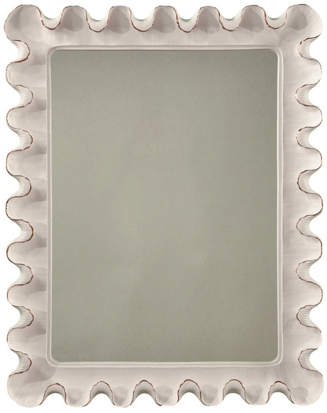 Wave Moderne Mirror, Sterling Silver