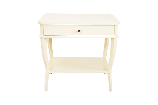 West Paces Side Table in Cream Lacquer