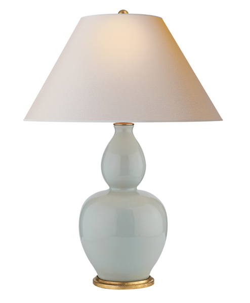 Yue Double Gourd Table Lamp, Ice Blue