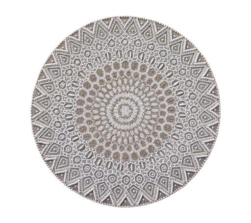 East West Placemat, White/Taupe