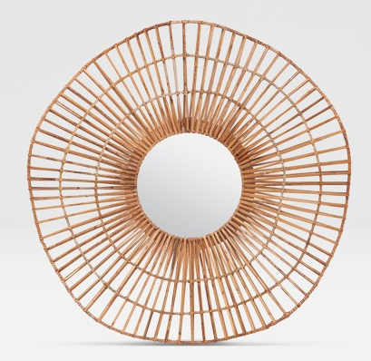 Wicker Wave Mirror