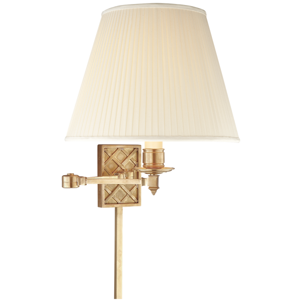 Gene Single Arm Sconce in Natural Brass