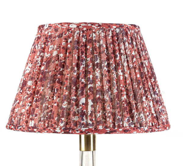 Fermoie Quartz Lamp Shade in Dark Red