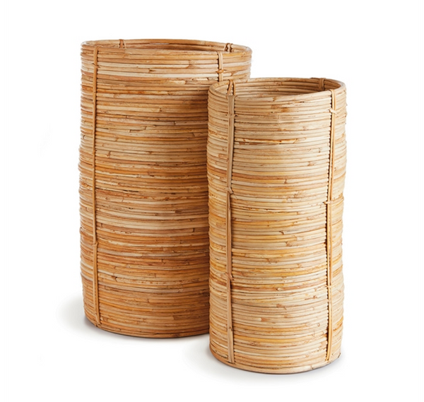 Cane Rattan Tall Cylinder, Large
