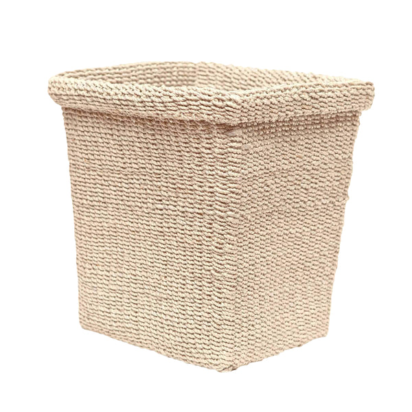 Pigeon & Poodle Chelston Rectangle Wastebasket, Bleached Abaca