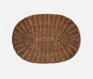 Oval Honey Rattan Placemat