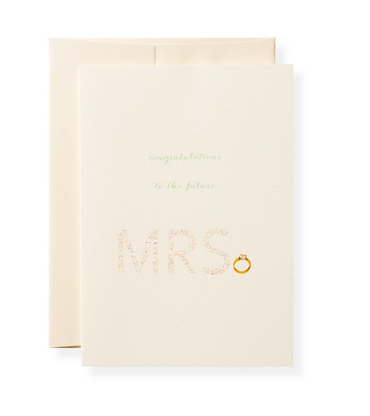 Karen Adams Greeting Card - Wedding, Mrs