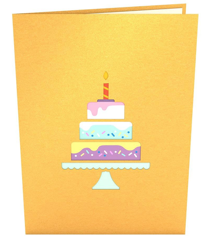Pop Up Card, Happy Birthday Cake
