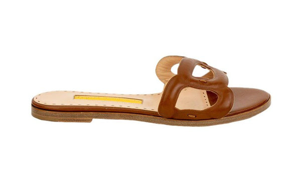 Rupert Sanderson Annabel Leather Pebble Strap Flat
