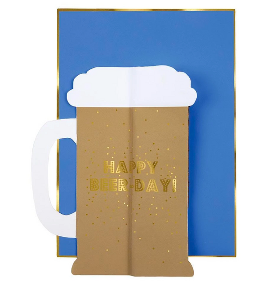 "Beer Honeycomb Card - ""Happy Beerday!"""