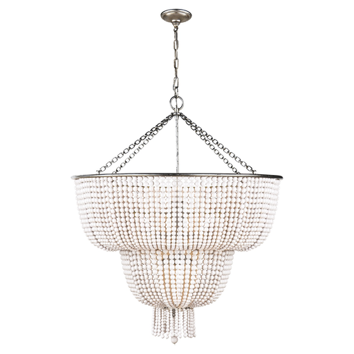Jacqueline Two Tier Pendant Chandelier, Burnished Silver