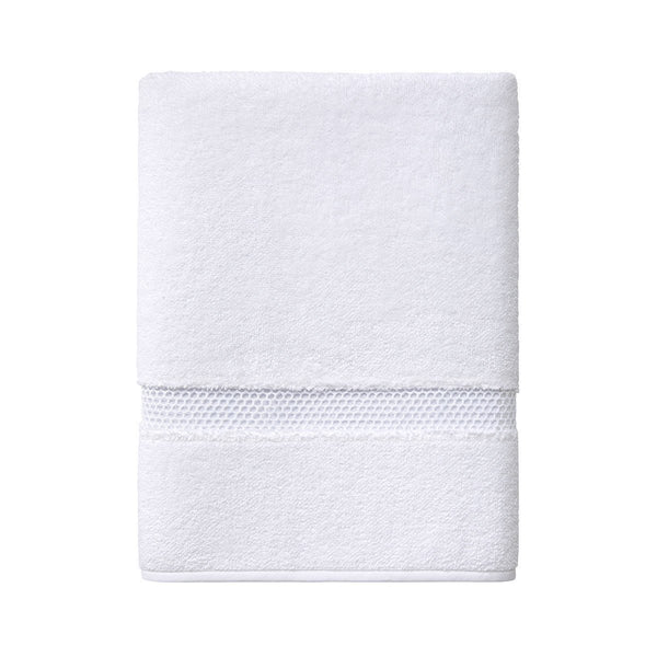 Yves Delorme Oriane Bath Towel Collection - Blanc