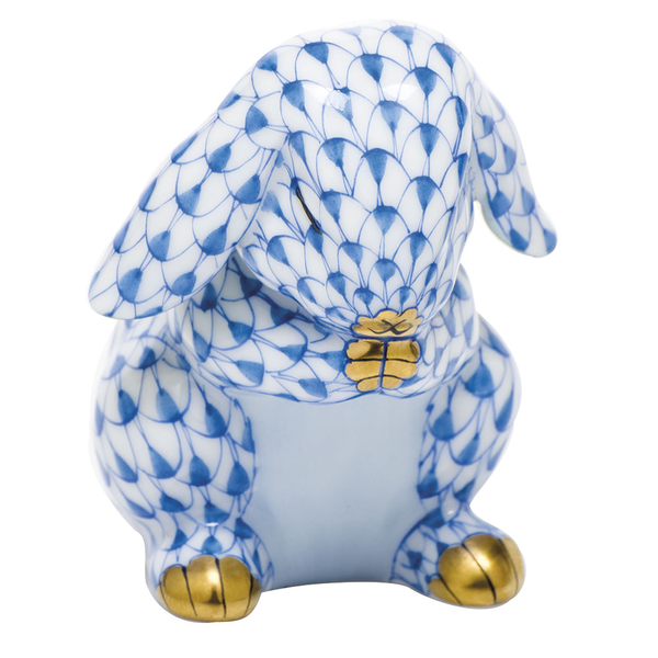 Herend Praying Bunny, Blue