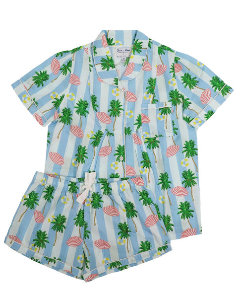 Sant and Abel Women's Beach Short Pajama Set