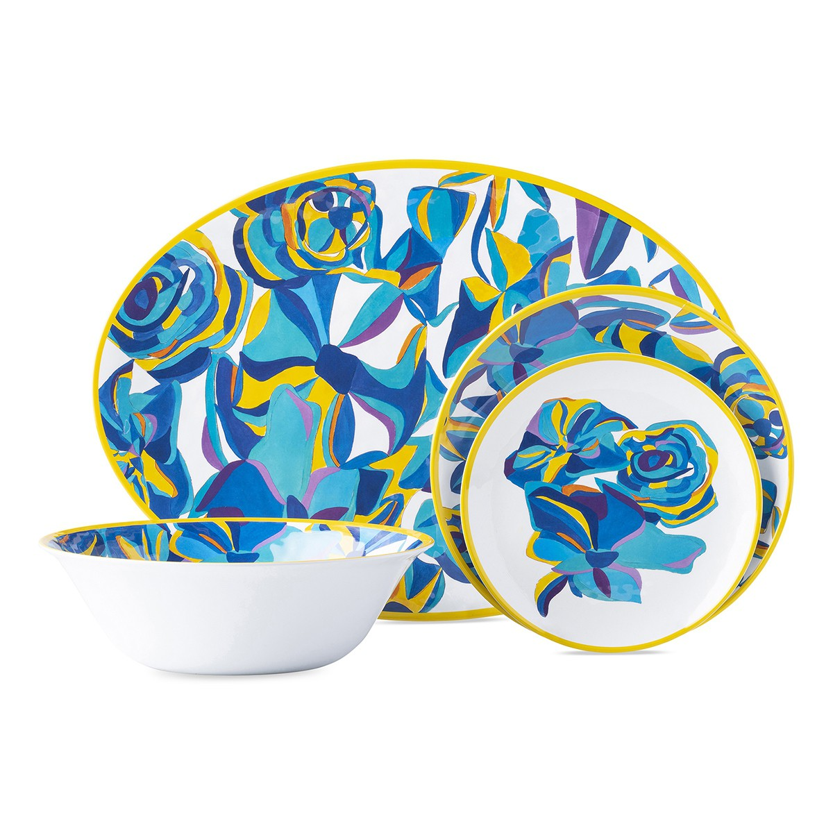 Juliska Blue Rose Serving Platter, Melamine