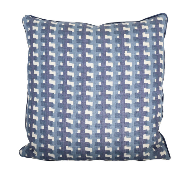Cremaillere Indigo Pillow