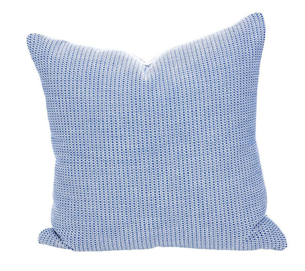 Outdoor Blue Lattice Pillow