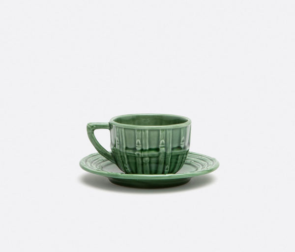 Gia, Green Bamboo Cup and Saucer