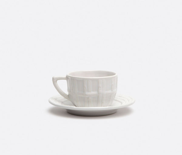 Gia, White Bamboo Cup and Saucer