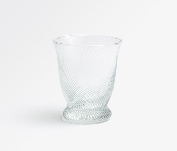 PIERRE, Clear Tumbler Glass, Hand Blown, indiv