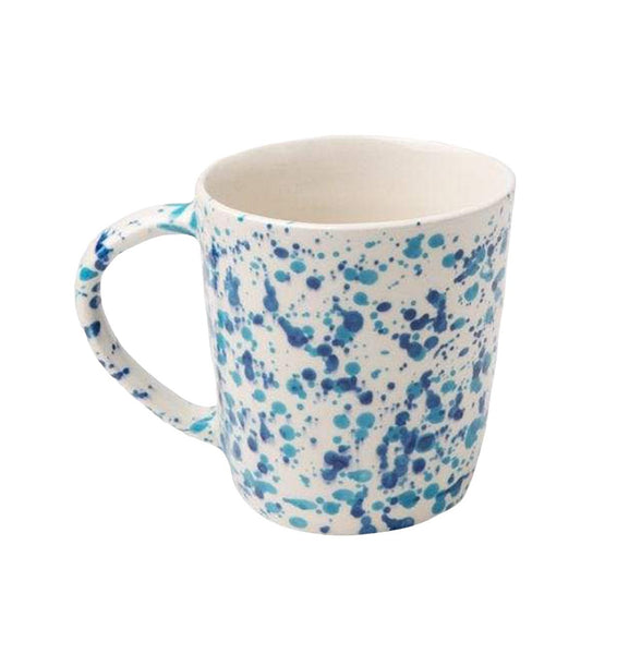 Mixed Blue Spongeware Mug