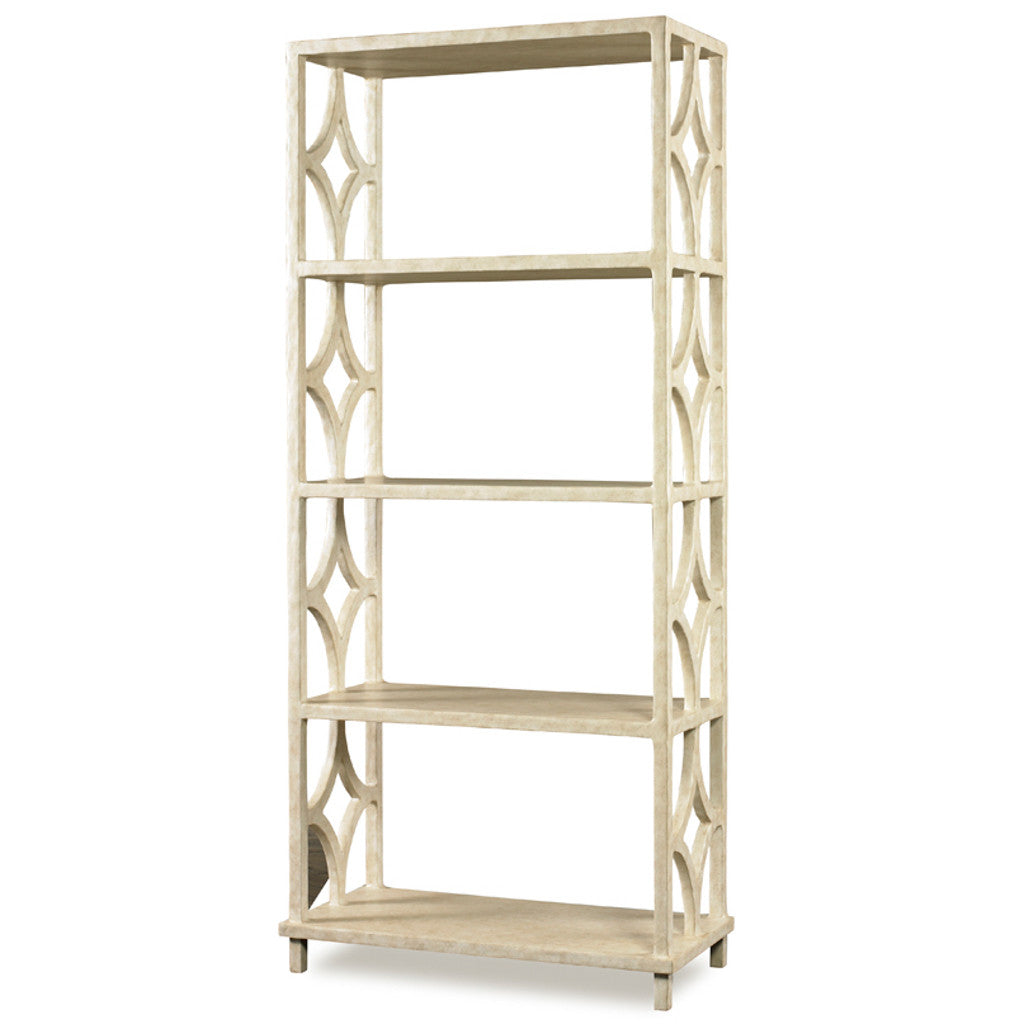 Antique White Gesso Book Shelf
