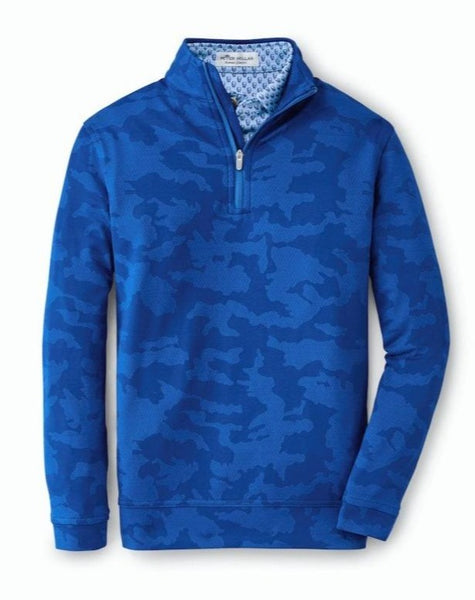 Peter Millar Boys Perth Camo Jacquard Performance Pullover