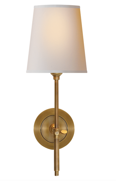 Bryant Sconce, Antique Brass