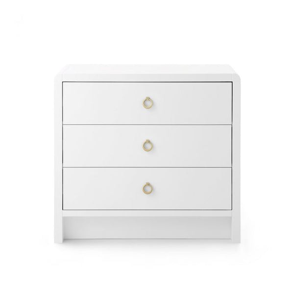 Bryant 3 Drawer Side Table in White