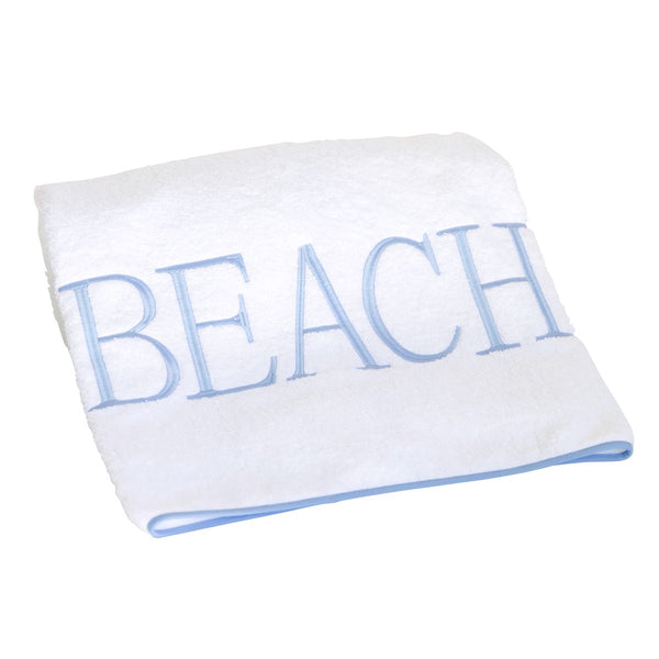 beach towel soft blue