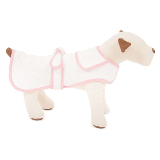 Pink Terry Cloth Dog Robe, Small