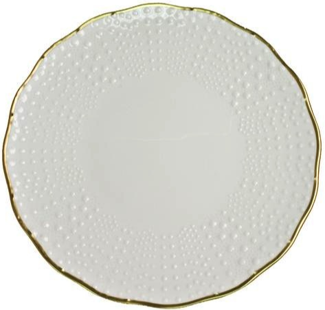 Medard de Noblat Corail Charger Plate White with Gold