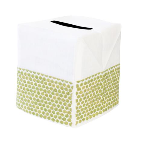 Honeycomb Tissue Box Cover, Green