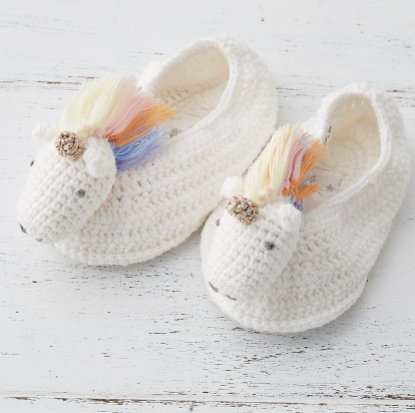Rainbow Unicorn Booties
