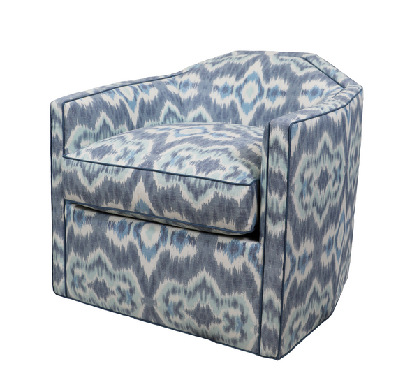Speakeasy Swivel Chair in Casablanca Blue Sky
