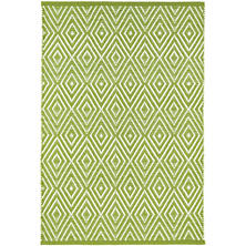 Diamond Indoor/Outdoor Rug, Sprout/White, 4 X 6