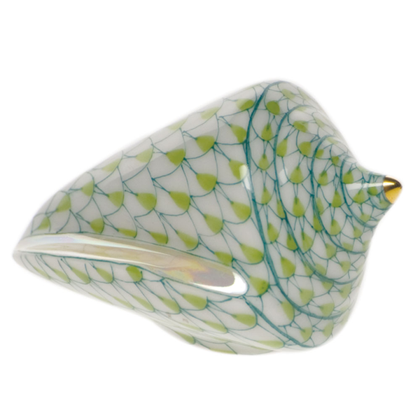 Herend Cone Shell, Key Lime Green