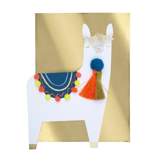 Season's Greetings - PomPom Llama Card