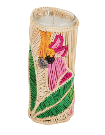 Raffia Cockatoo Candle Holder