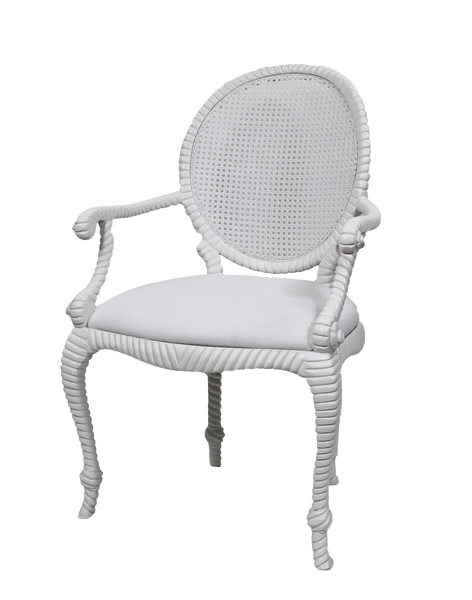 Vintage Cane Back Arm Chair