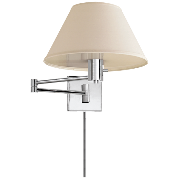 Classic Swing Arm Wall Lamp, Polished Nickel